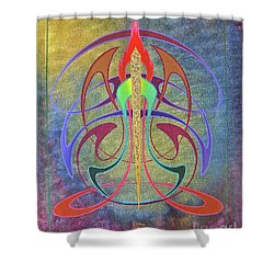 Mellow New Vo Shower Curtain by Alan Johnson