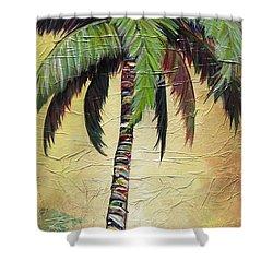 Mellow Palm I Shower Curtain