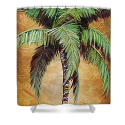 Mellow Palm II Shower Curtain by Kristen Abrahamson