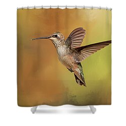 Mellow Yellow Shower Curtain by Donna Kennedy