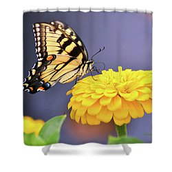Mellow Yellow Shower Curtain by Kathy Kelly