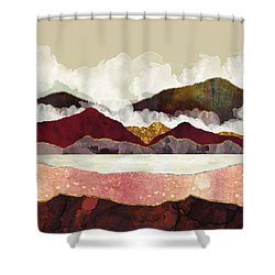 Melon Mountains Shower Curtain