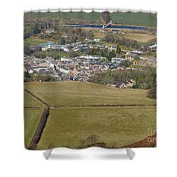 Melrose Abbey And Town Shower Curtain