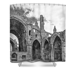 Melrose Abbey Shower Curtain by Elvira Butler