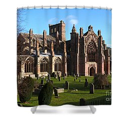 Melrose Abbey  Shower Curtain