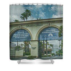 Melrose Gate Shower Curtain by Anne Rodkin