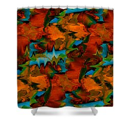 Meltdown Shower Curtain by Stephen Anderson
