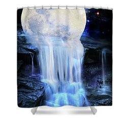 Melted Moon Shower Curtain
