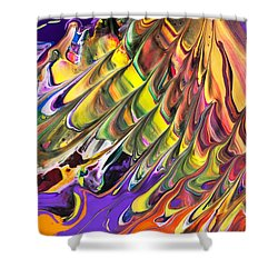 Melted Swirl Shower Curtain