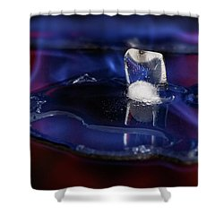 Shower Curtain featuring the photograph Melting Away by Rico Besserdich