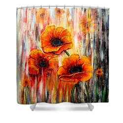 Melting Flowers Shower Curtain by Greg Moores