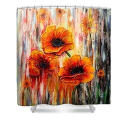Melting Flowers Shower Curtain