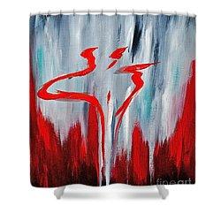 Melting Point  Shower Curtain by Herschel Fall
