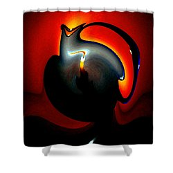 Melting Point Shower Curtain by Will Borden