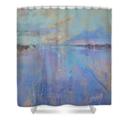 Melting Reflections Shower Curtain