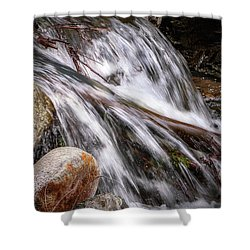 Melting Snow Falls Shower Curtain by Elaine Malott