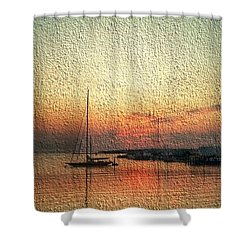 Melting Suneset  Shower Curtain