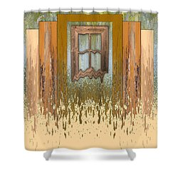 Melting Window Shower Curtain