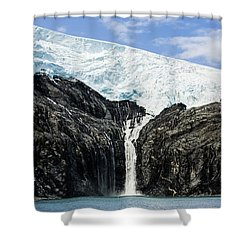 Meltwater From The Northland Glacier Shower Curtain by Ray Bulson