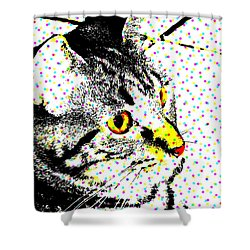 Melvin In Dots Shower Curtain