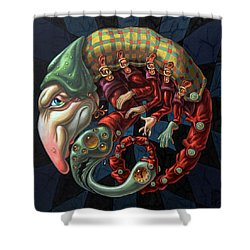 Memento Mori. Red Scorpion Shower Curtain