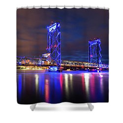 Shower Curtain featuring the photograph Memorial Bridge by Robert Clifford