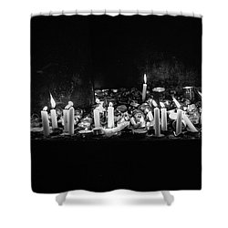 Memorial Candles II Shower Curtain by Yoel Koskas