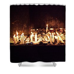 Memorial Candles Shower Curtain by Yoel Koskas
