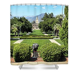 Memorial Chapel University Of Redlands Shower Curtain by Mariola Bitner