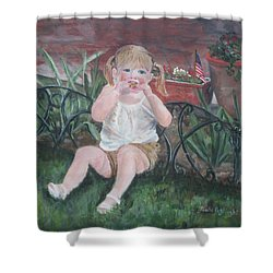 Memorial Day Bbq Shower Curtain