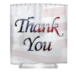 Memorial Day Salute Shower Curtain by Anita Oakley
