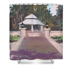 Memorial Garden Lakeside, Ohio Shower Curtain by Terri  Meyer