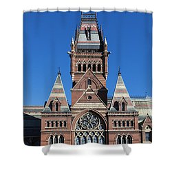 Memorial Hall Harvard Shower Curtain by John Greim