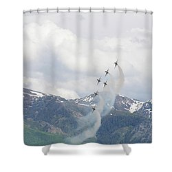 Shower Curtain featuring the photograph Memorial Pass by Bryan Carter