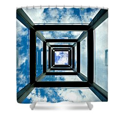 Memorial Stacks Shower Curtain by Greg Fortier
