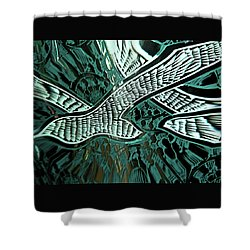 Memorial Swallows Shower Curtain by Lenore Senior