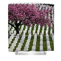 Memorial Shower Curtain by Trudy Parman