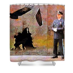 Shower Curtain featuring the painting Memorial by Wayne Pascall