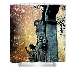 Memorializing Shower Curtain by Scott Wyatt
