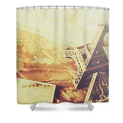 Memories And Mementoes Of Travelling France Shower Curtain