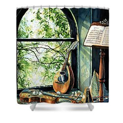 Memories And Music Shower Curtain by Hanne Lore Koehler