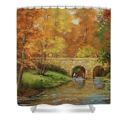 Memories At Stone Bridge Shower Curtain