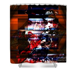 Shower Curtain featuring the digital art Memories Of A Geisha by John Rizzuto