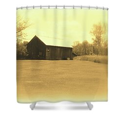 Memories Of Long Ago - Barn Shower Curtain