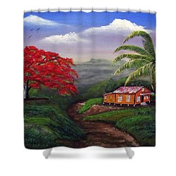 Memories Of My Island Shower Curtain