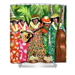 Memories Of The Kodak Hula Show At Kapiolani Park In Honolulu #20 Shower Curtain by Donald k Hall