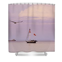 Shower Curtain featuring the photograph Memories Of The Lake by Heidi Hermes