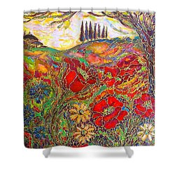 Memories Of Tuscany Shower Curtain by Rae Chichilnitsky