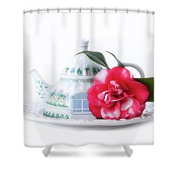 Memories Red Shower Curtain