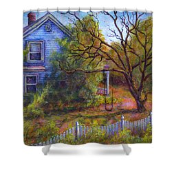 Shower Curtain featuring the painting Memories by Retta Stephenson